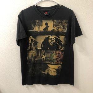 Zion bob marley Rastafarian band t shirt black